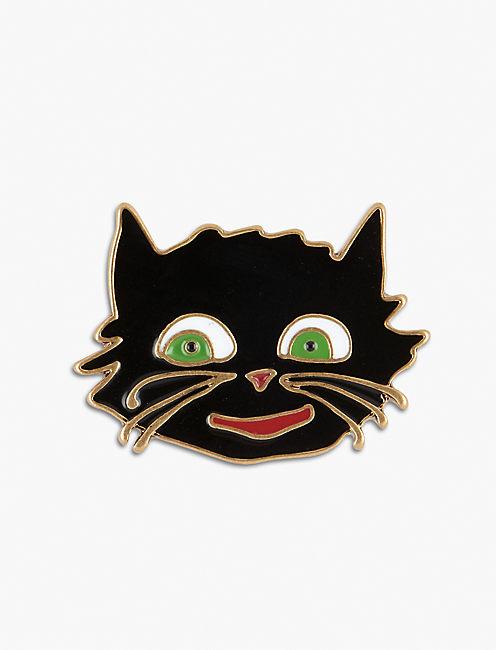 Lot, Stock And Barrel BLACK CAT PIN,