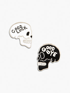 Lot, Stock And Barrel SKULL PIN