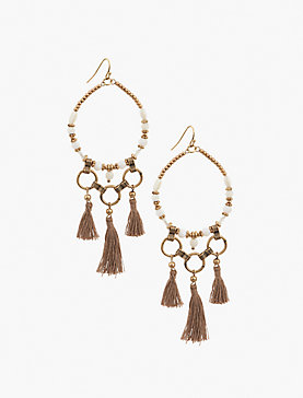 COLORFUL TASSEL EARRING