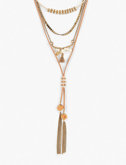 Lucky Layer Tassel Necklace