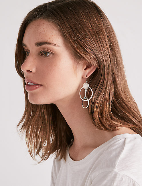 Lucky Circle Drop Earring