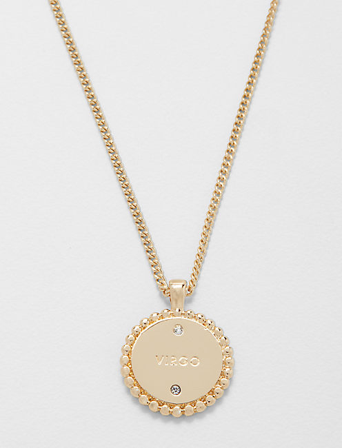 Lucky Small Virgo Zodiac Necklace
