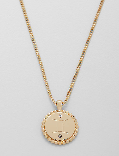 SMALL GEMINI ZODIAC NECKLACE,