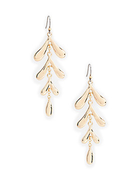 HIGH SHINE LEAF EARRING