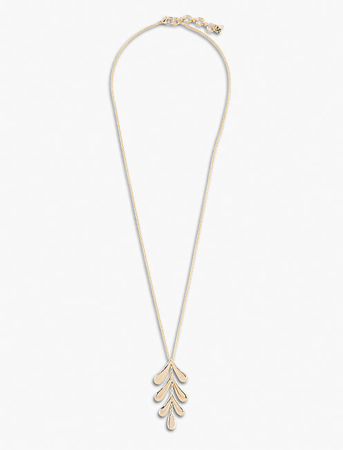 HIGH SHINE LEAF NECKLACE, GOLD