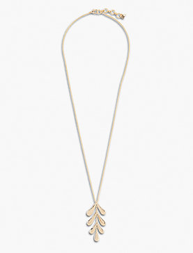 HIGH SHINE LEAF NECKLACE