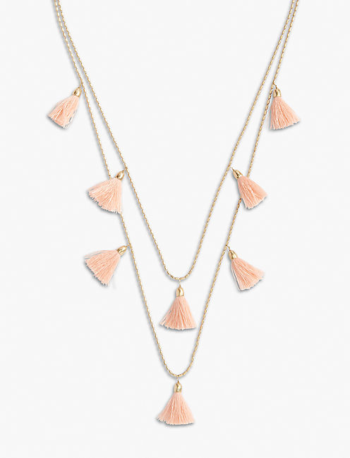 BLUSH TASSEL NECKLACE,