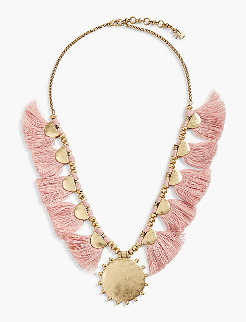 FRINGE STATEMENT NECKLACE,