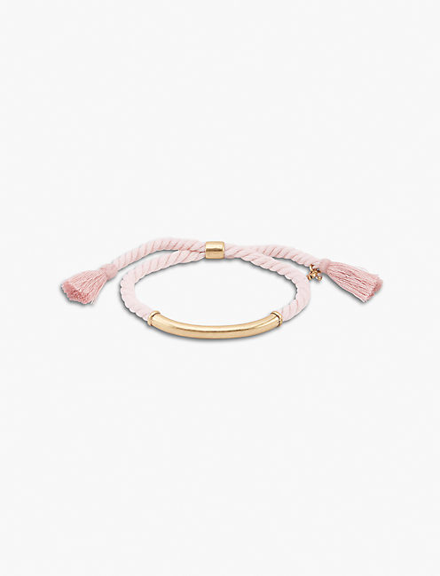 BLUSH BRAIDED BRACELET,