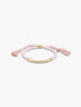 BLUSH BRAIDED BRACELET