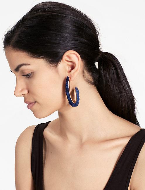 Lucky Navy Fringe Earring