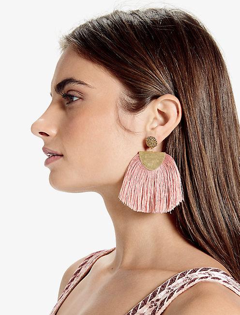 Lucky Blush Fringe Earring