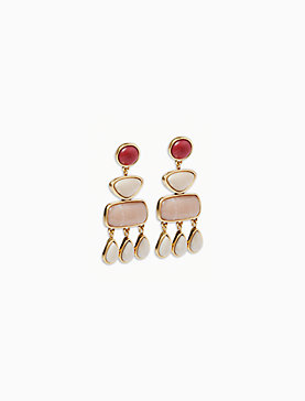 STONE STATEMENT EARRING