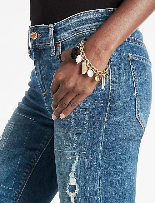 Lucky Pom Pom Charm Bracelet
