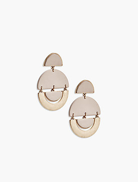 GEO LEATHER EARRING