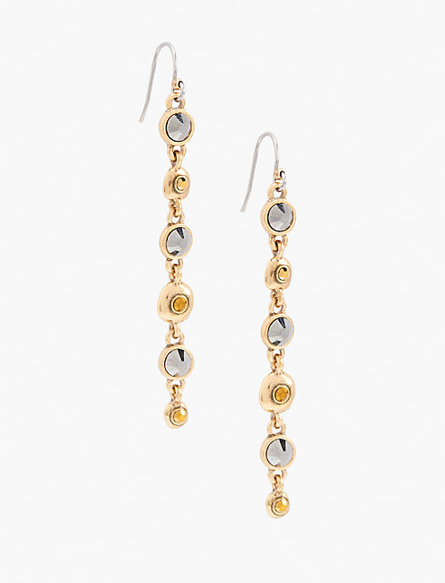 PAVE LONG LINEAR EARRING,