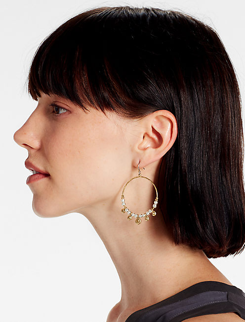 Lucky Pave Hoop Earring