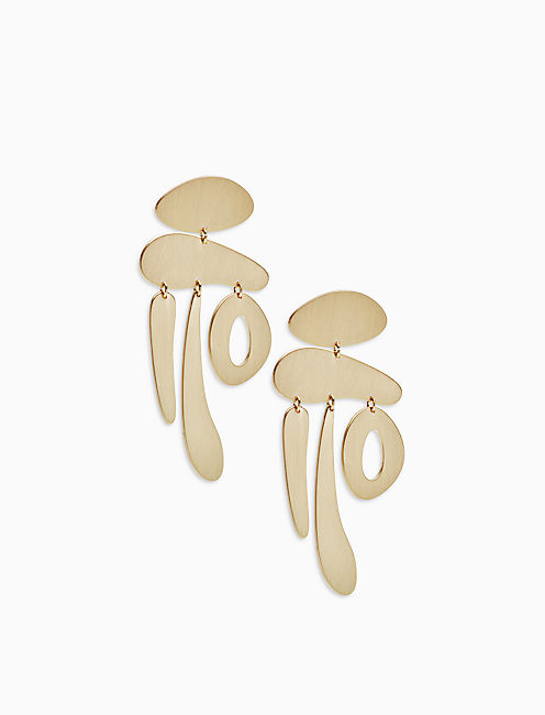 BRUSHED STATEMENT EARRING,