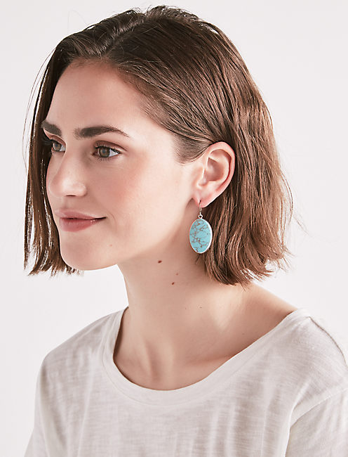 Lucky Turquoise Drop Earring