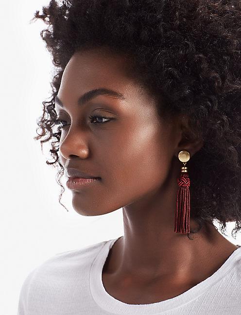 Lucky Merlot Tassel Earring