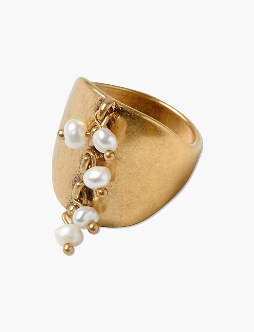 GOLD PEARL RING,