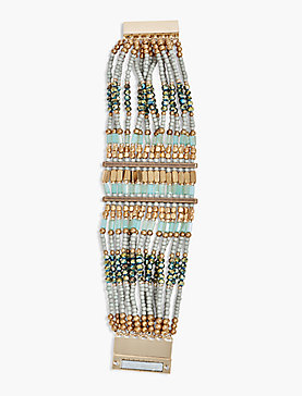 BEADED STATEMENT BRACELET