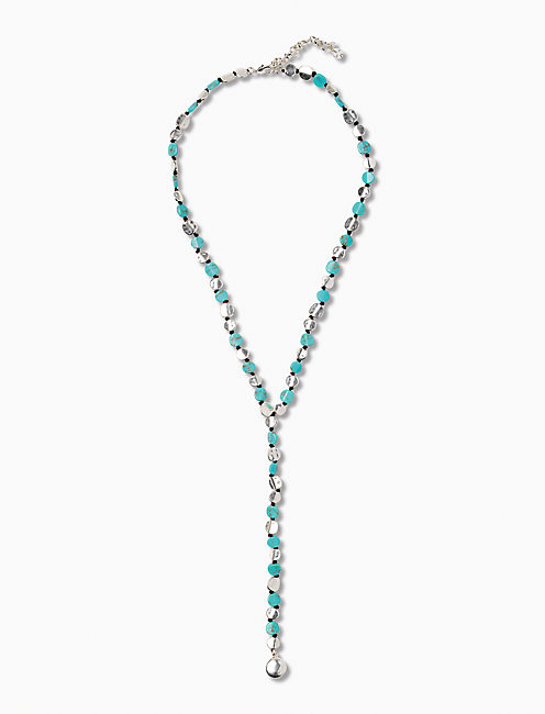 TURQUOISE COIN Y NECKLACE,