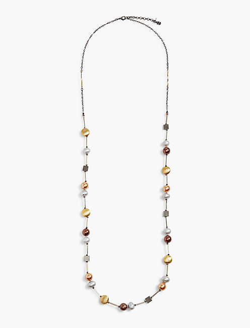 PEARL AND SHAPE NECKLACE,
