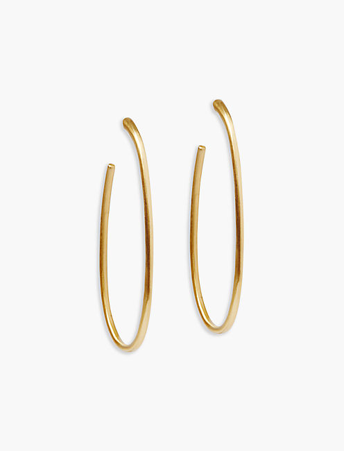 GOLD OVAL HOOPS,