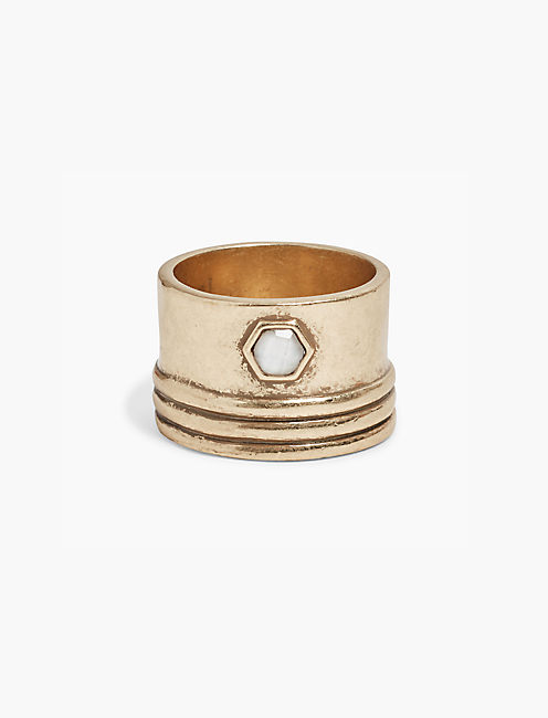 GOLD STATEMENT RING, GOLD