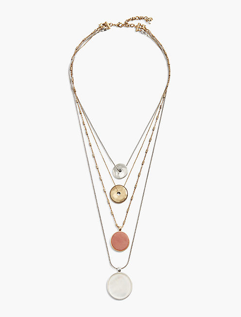 LAYERED COIN NECKLACE,