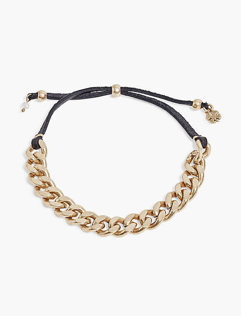 CHAIN LEATHER BRACELET,