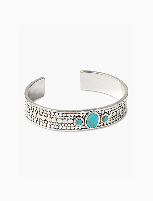SILVER TURQUOISE CUFF,