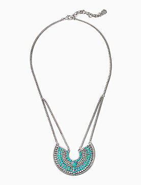 TURQ CRESCENT NECKLACE