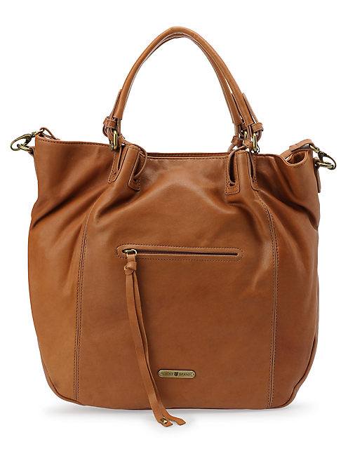 CHARLOTTE TOTE, RUST BROWN