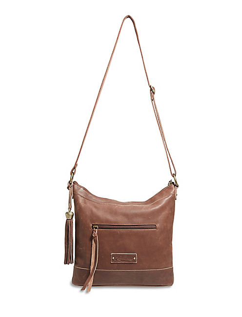KARMA CROSSBODY, MEDIUM DARK BROWN