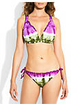 SUMMER HALTER TOP- D CUP, OPEN PURPLE