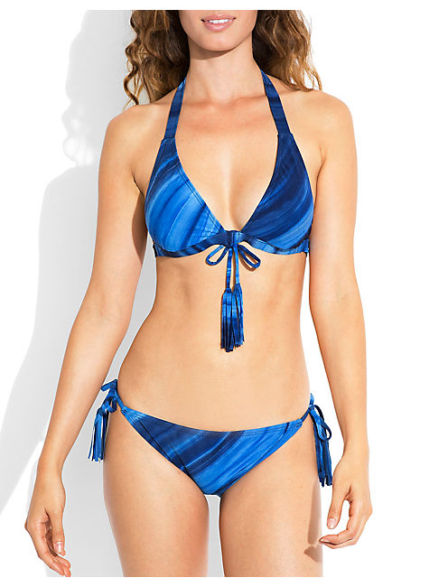 WILD STREAK HALTER TOP, COOL BLUES