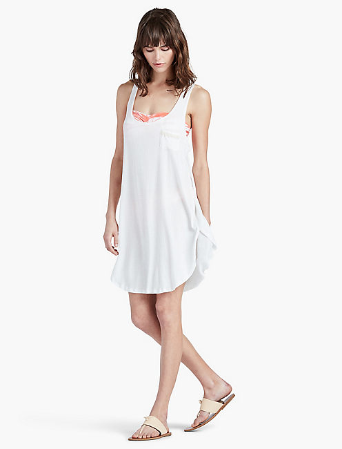 LUCKY WHITE BEACH POCKET DRESS