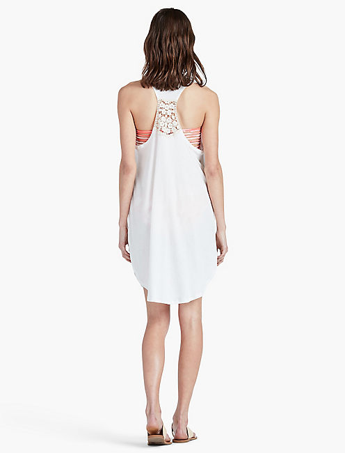 WHITE BEACH POCKET DRESS,