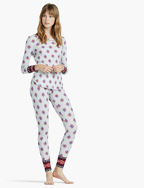 PRINTED PAJAMA THERMAL, MEDIUM GREY