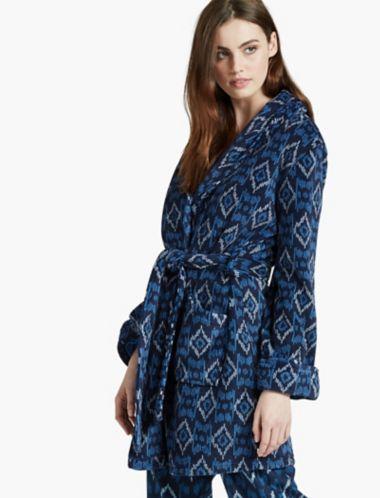 Lucky Brand Womens Shawl Collar Robe