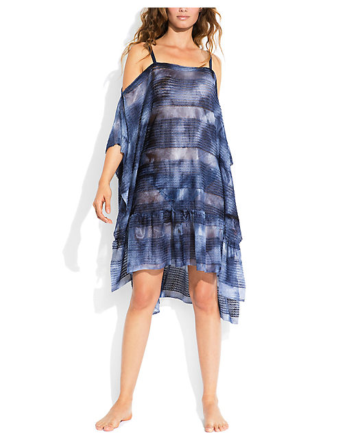 BLUE PRINT DRESS, DARK BLUE