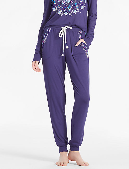 RIB TRIMMED JOGGER, DARK BLUE