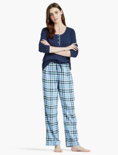 Lucky Contrast Placket Pajama