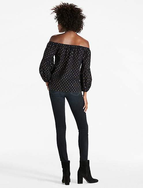 OFF SHOULDER BELL SLEEVE,