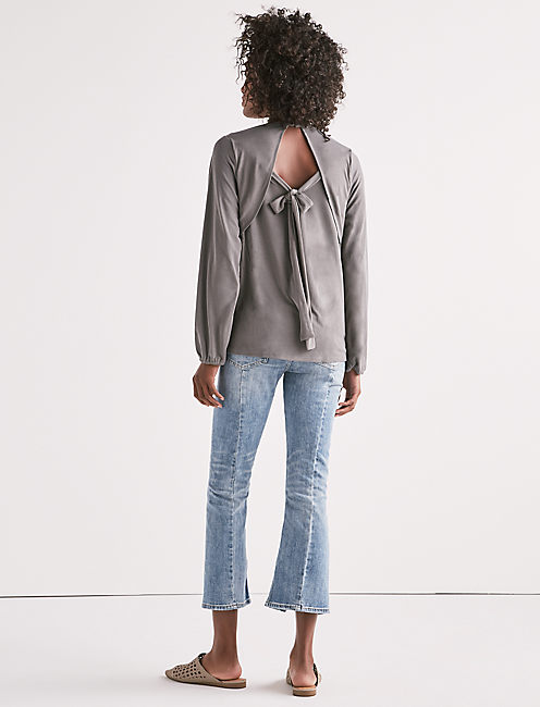Lucky Tie Back Cutout Top
