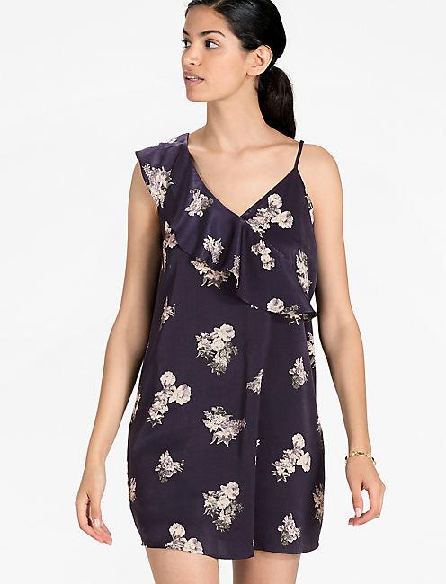 ASYMMETRICAL FLORAL DRESS,