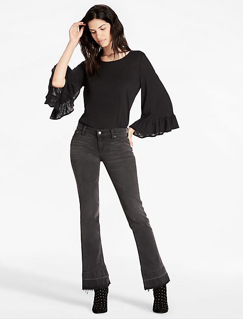 Lucky Wide Ruffle Sleeve Top