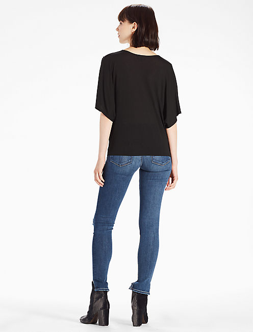TWIST FRONT TOP, 001 LUCKY BLACK